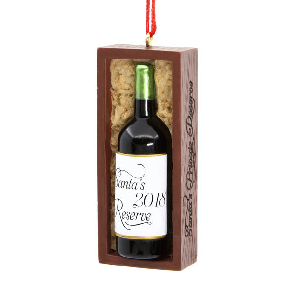 Hallmark Santa's Reserve Wine Ornament Dated 2018