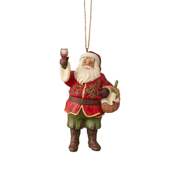 Department56  Jim Shore Heartwood Creek Vineyard Santa Ornament