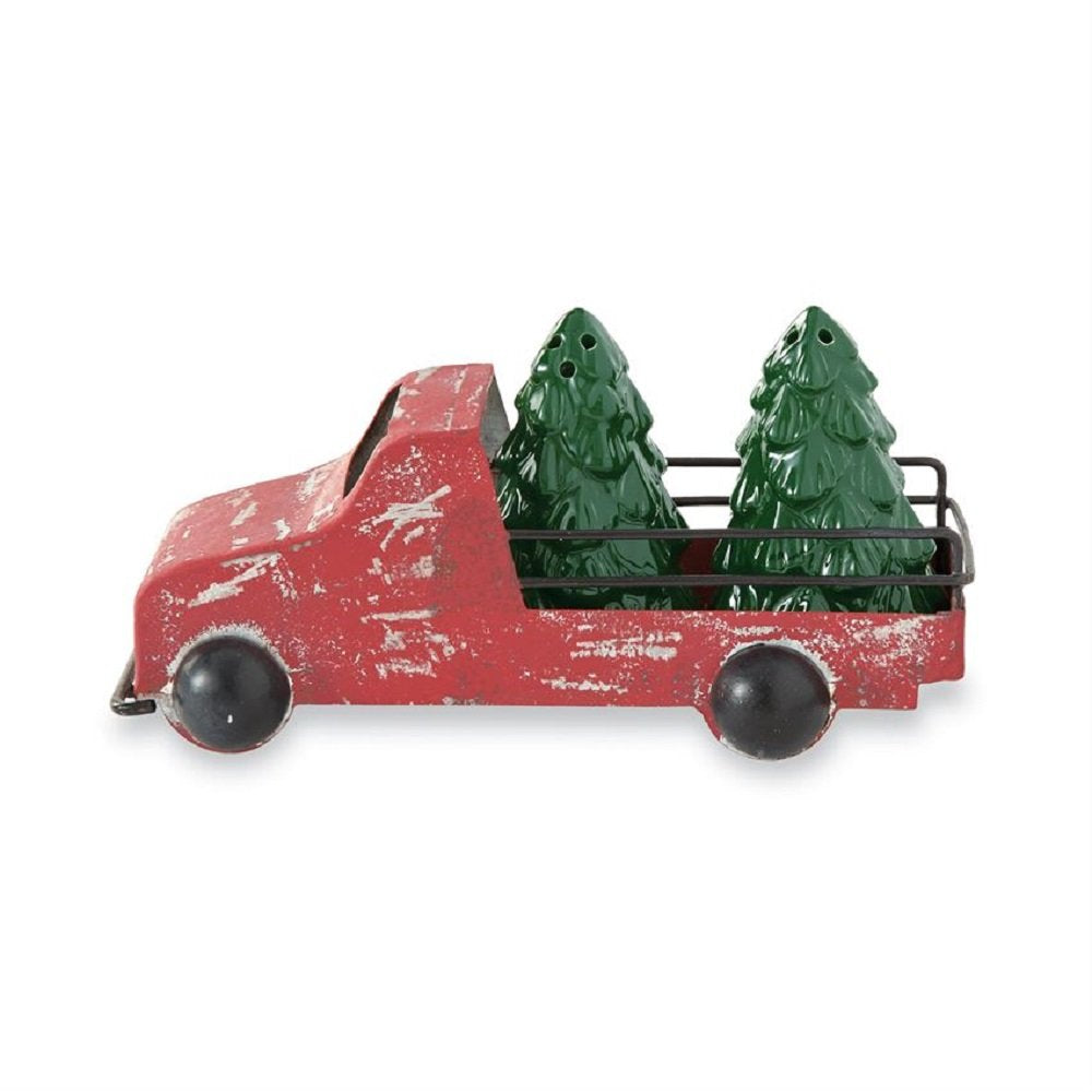 Mud Pie Ceramic Truck Green Salt Pepper Set Kitchen Accessories