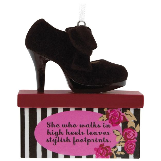 Stylish Footprints High Heel Shoe Hallmark Ornament