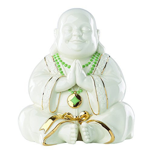 Exclusive Lenox Happy Praying Buddha Statue Figurine