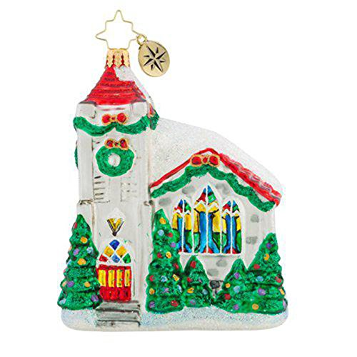 Christopher Radko Snowing In Heaven Christmas Ornament