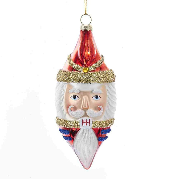 Kurt Adler Nutcracker Head Finial Glass Ornament