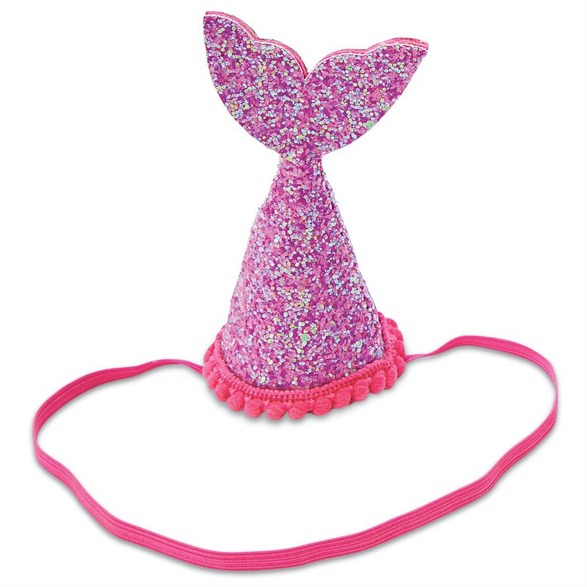 Mud Pie Kids Mini Mermaid Party Hat, Purple
