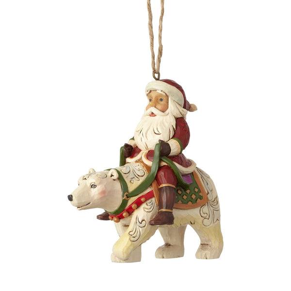 Enesco  Jim Shore Heartwood Creek Santa Riding a Polar Bear