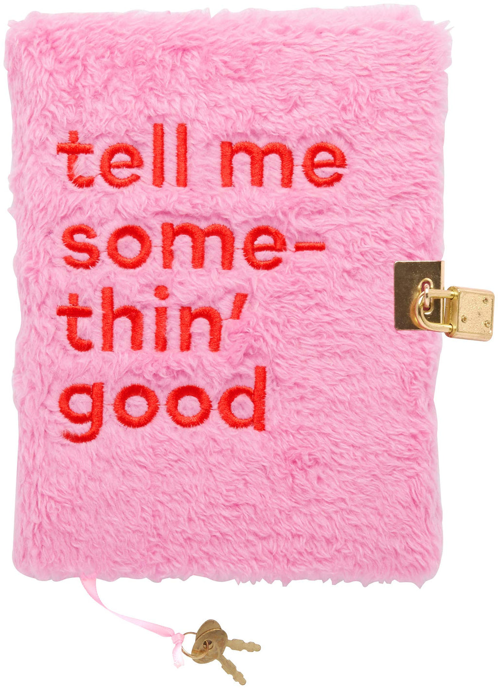 "C.R. Gibson 'Tell Me Somethin Good' Faux Fur Diary and Personal Journal with Lock, 192 pgs., 4"" W x 6 7/8"" H."