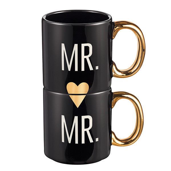 "Grasslands Road ""Mr. and Mr."" Couple Mugs, Set of 2"