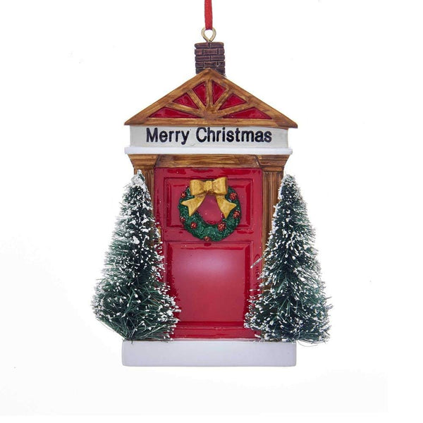 "Kurt Adler ""Merry Christmas"" Door Ornament For Personalization"