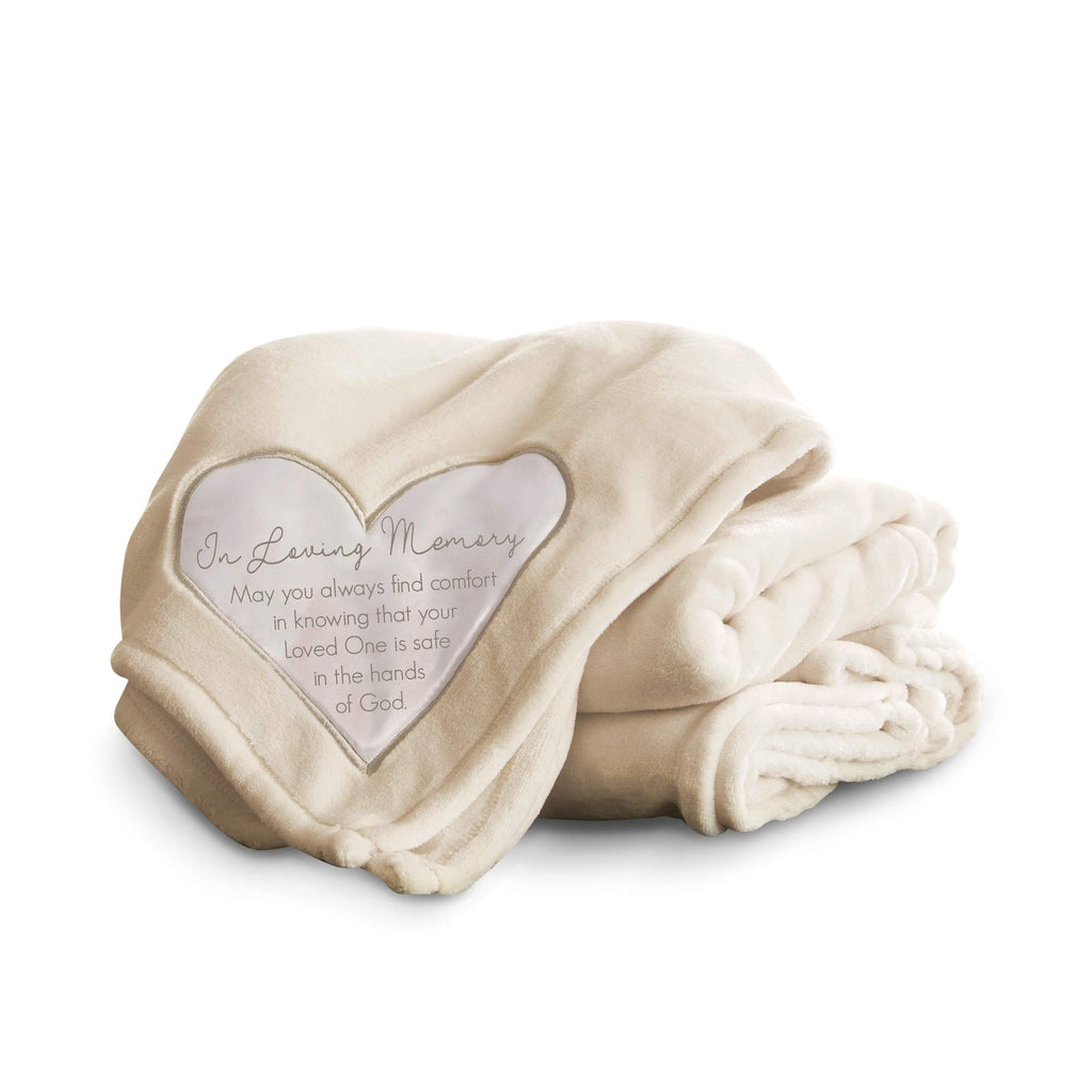 Pavilion Gift Company 19501 Comfort Loving Memory Thick Warm 320 GSM Royal Plush Throw Blanket, Cream
