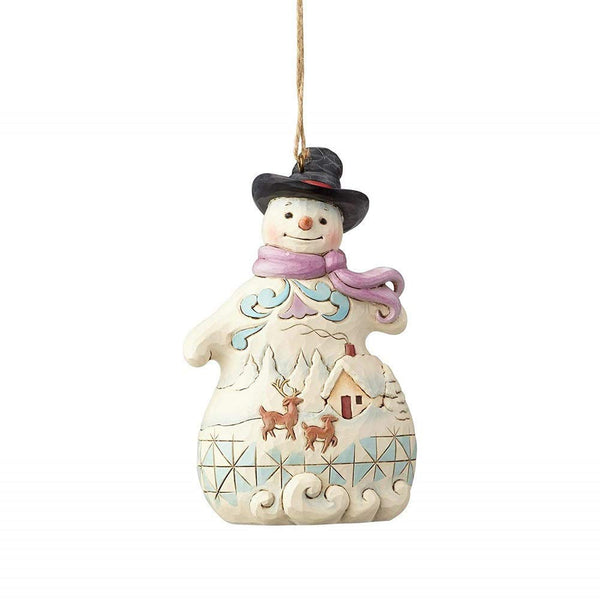 Enesco  Jim Shore Heartwood Creek Snowman with Snow Scene