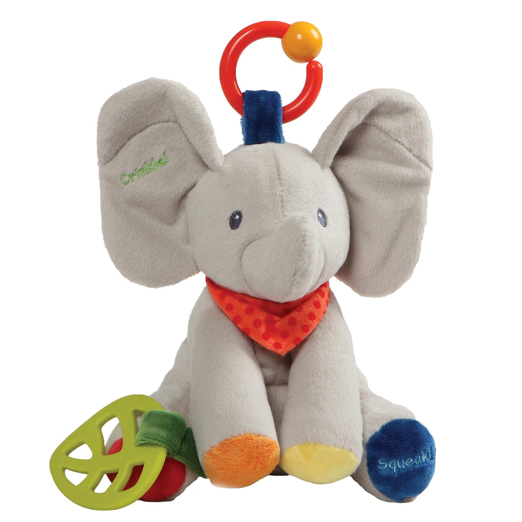 Baby GUND Flappy the Elephant Activity Toy for Educational Play Stuffed Animal Plush, 8.5