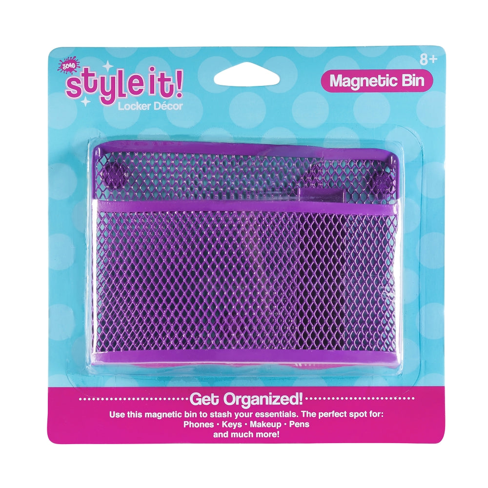 3C4G Magnetic Locker Bin, Purple