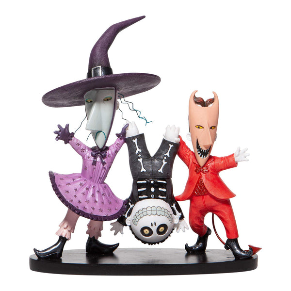 Enesco Disney Showcase Couture de Force The Nightmare Before Christmas Lock Shock and Barrel Figurine, 6.3 Inch, Multicolor