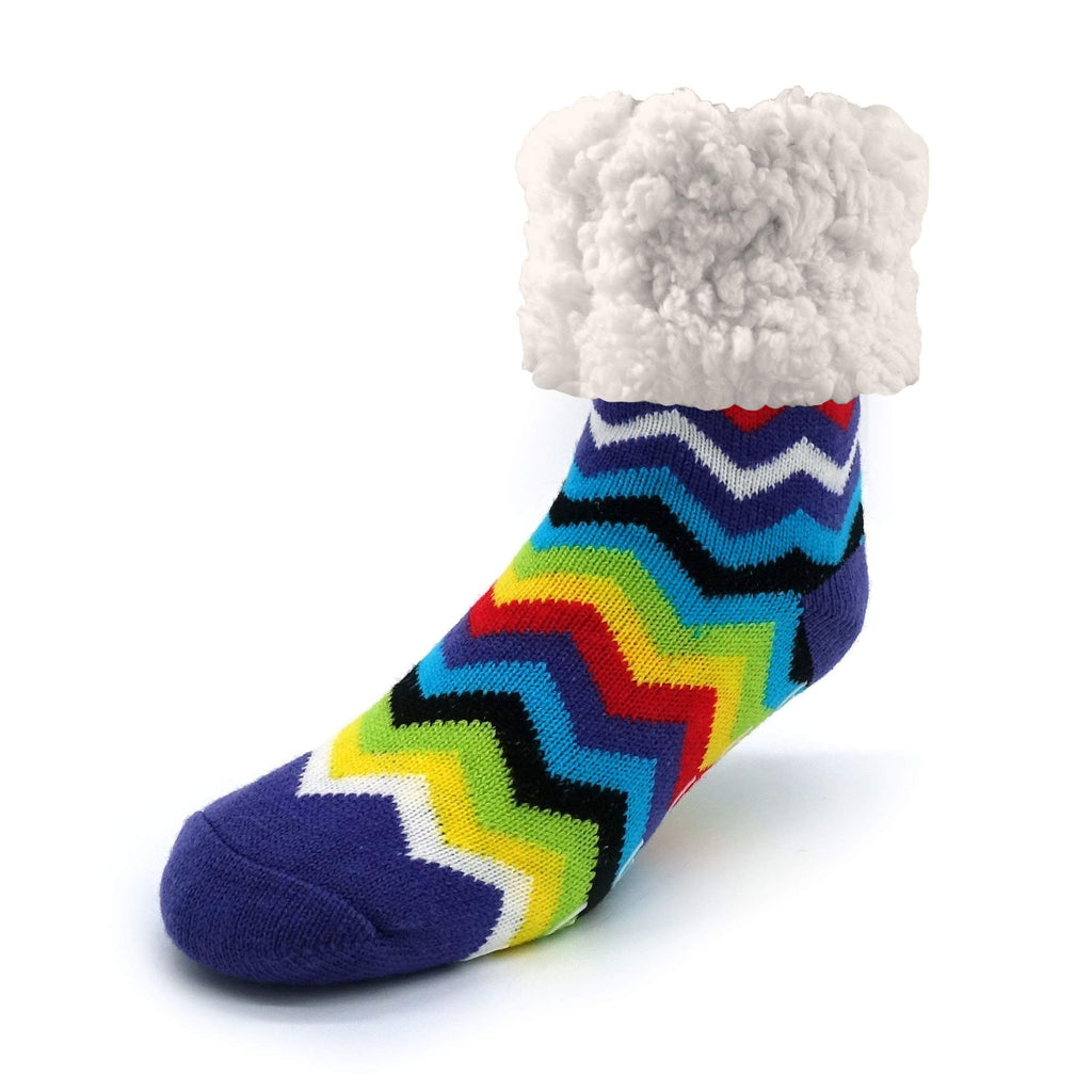 Pudus adult regular cozy winter classic slipper socks with grippers
