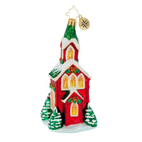 Christopher Radko 2018 'Christmas Cathedral' Glass Church Ornament