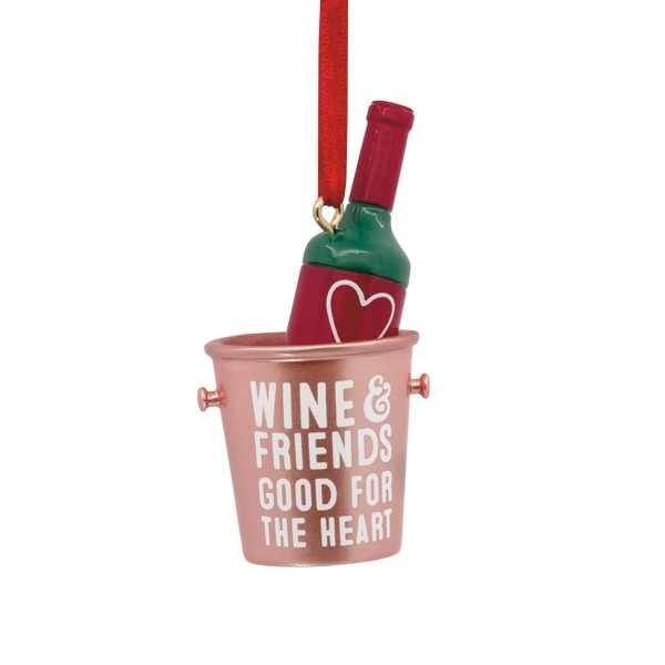 Hallmark Friends Wine Bottle Ornament