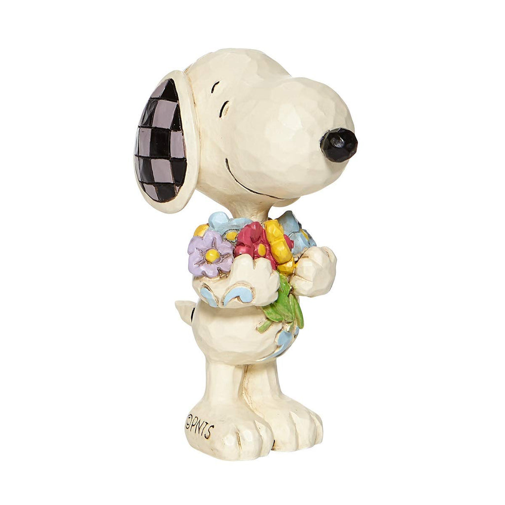 Enesco Jim Shore Mini Snoopy with Flowers Figurine 3""