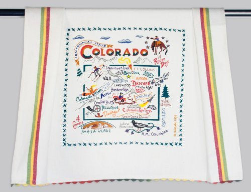 Catstudio Colorado Dish Towel - Original Geography Collection Décor 008D(CS)