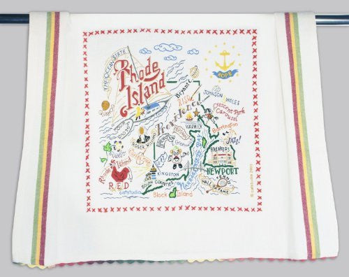 Catstudio Rhode Island Dish Towel - Original Geography Collection Décor