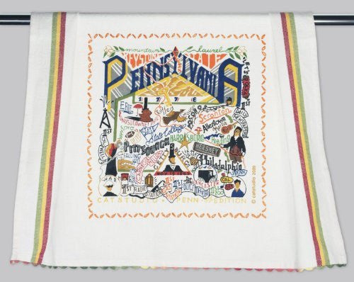 Catstudio Pennsylvania Dish Towel - Original Geography Collection Décor