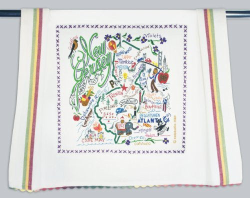 Catstudio New Jersey Dish Towel - Original Geography Collection Décor 039D(CS)