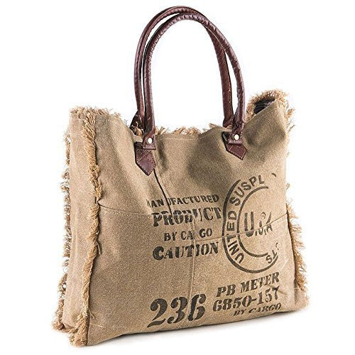 Mona B Vintage Ink Stamp Weekender Bag M-2453