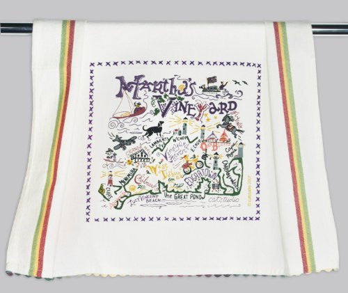 Catstudio Martha's Vineyard Dish Towel - Original Geography Collection Décor 077D(CS)