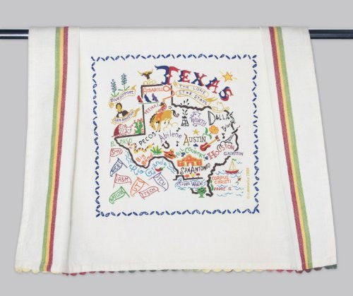 Catstudio Texas Dish Towel - Original Geography Collection Décor