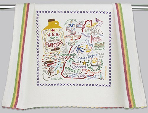 Catstudio New Hampshire Dish Towel - Original Geography Collection Décor 038D(CS)