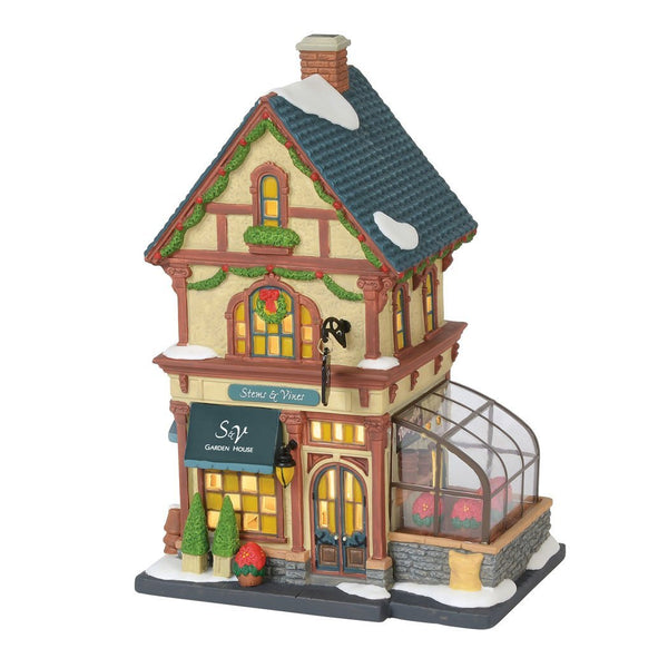 Department 56 Christmas in the City Stems and Vines Garden House