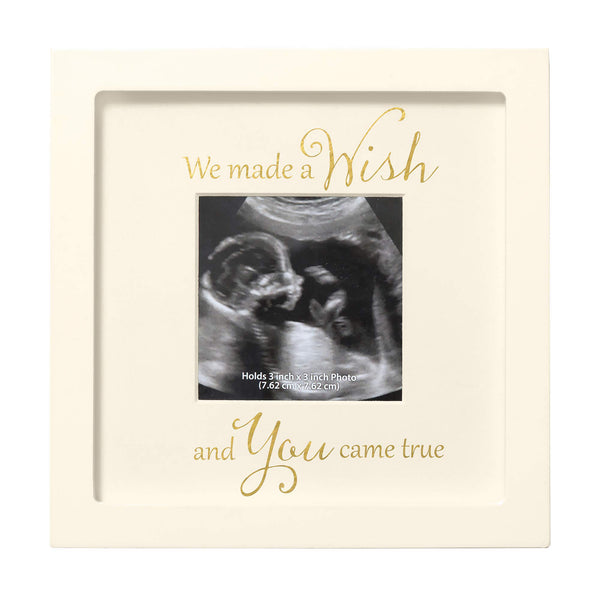 C.R. Gibson 'We Made a Wish and You Came True' Yellow Sonogram Picture Frame, 7'' x 7''