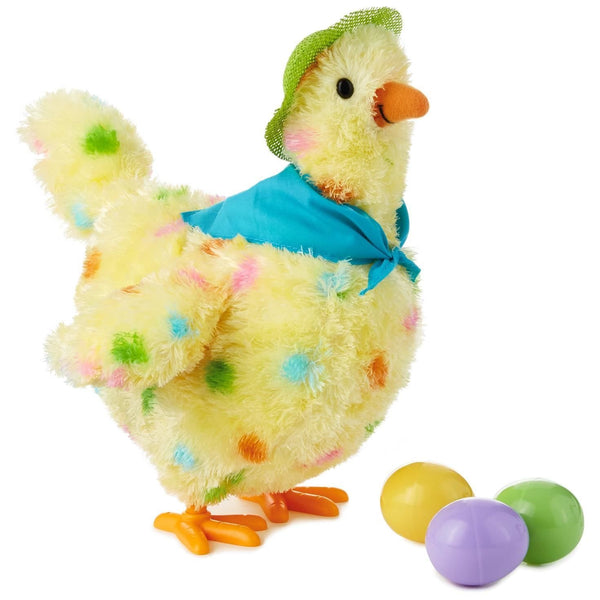 "Hallmark Squawkin' Egg Droppin' Mama Hen 10"" Interactive Stuffed Animal"
