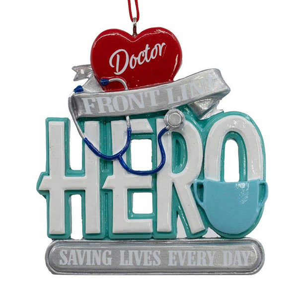 Kurt Adler Front Line Hero Saving Lives Every Day Ornament Doctor