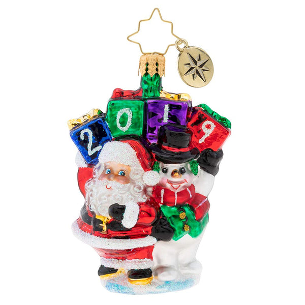 Christopher Radko 2019 Holding Up Their End Gem Christmas Ornament
