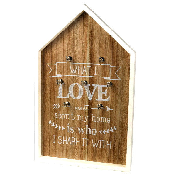 "Grasslands Road Key Holder Wall Decor 19"" x 11 3/4"" MDF"