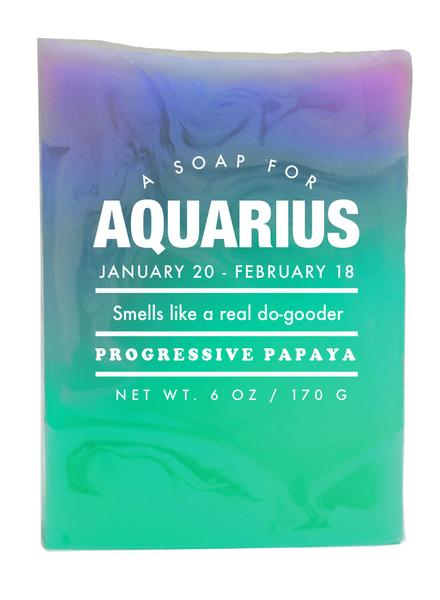 Whiskey River Astrology Soap, Aquarius 6oz.