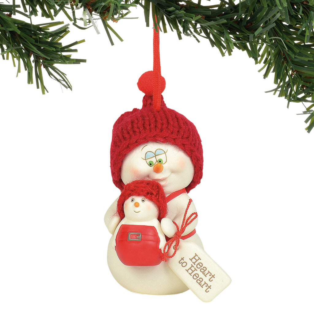 "Department 56 Snowpinions Heart Hanging Ornament, 3"", Multicolor"