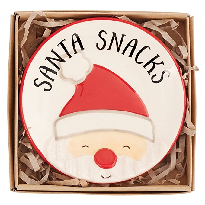 Mud Pie Christmas Small Plate (Santa)