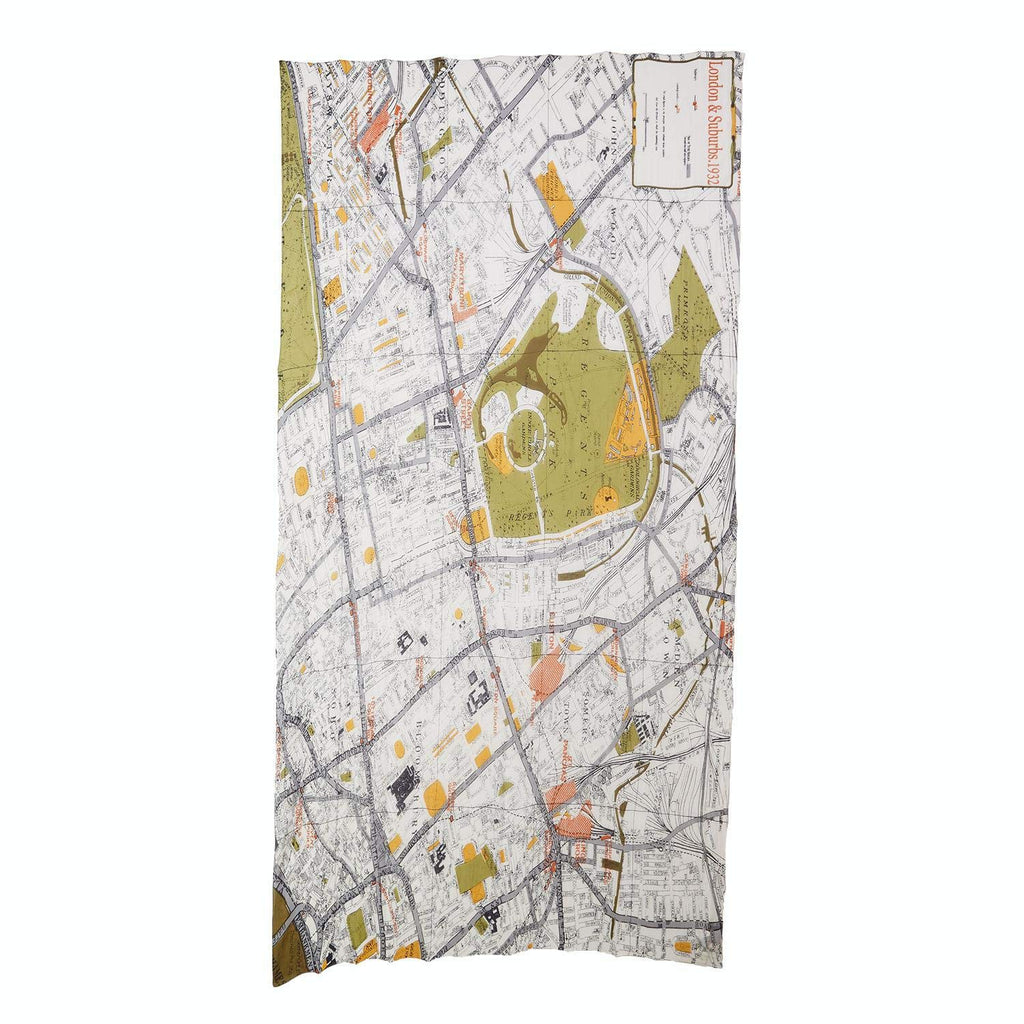 Two's Company Map Scarf, London