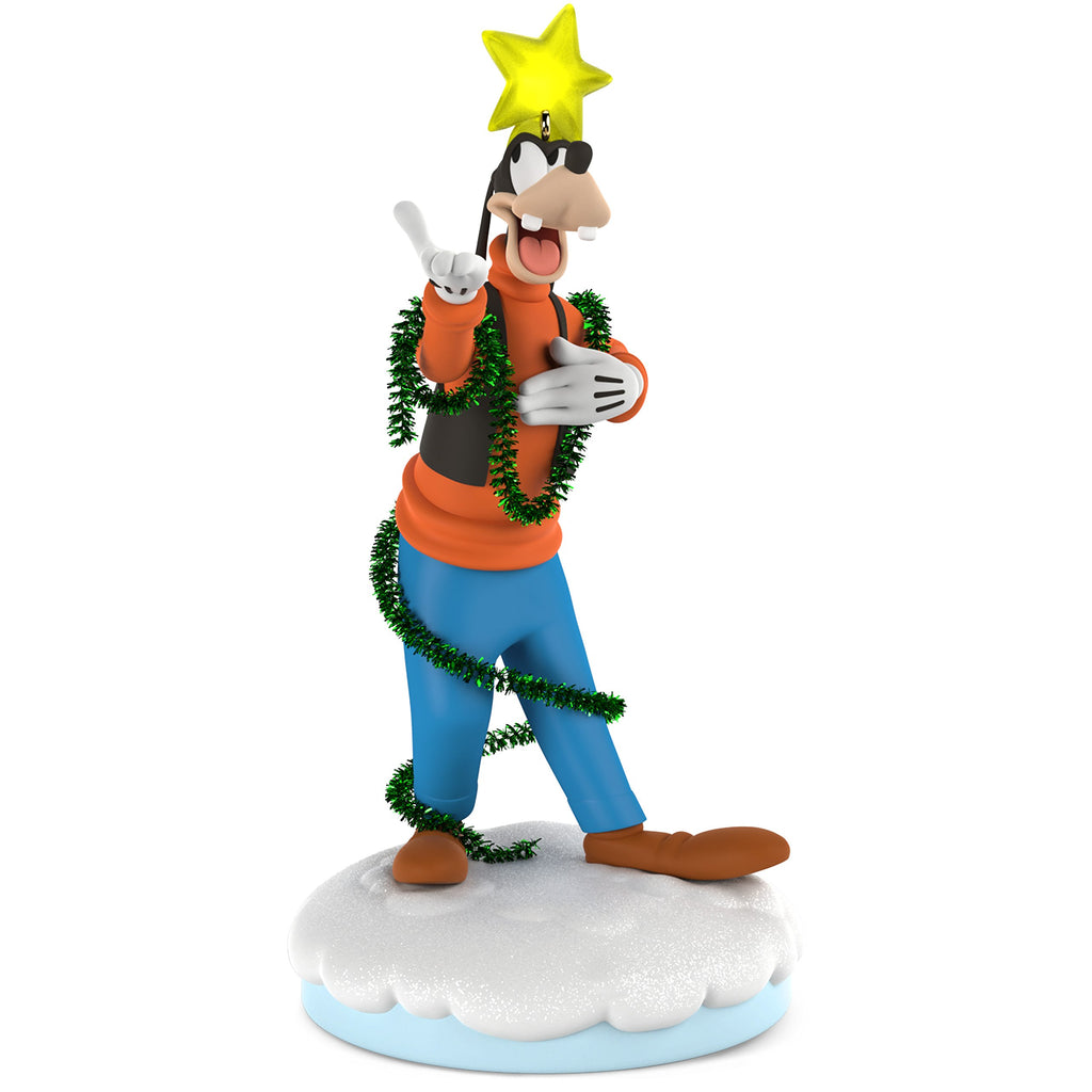 Hallmark Keepsake 2018 Disney Christmas Carolers Gleeful Goofy Musical Ornament With Light and Motion