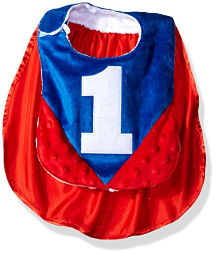 Mud Pie Kids Baby Applique Bib, Cape, One Size