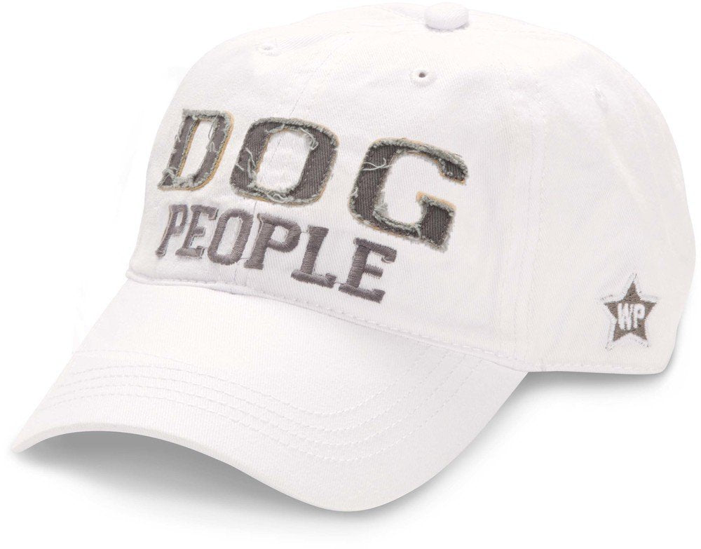 Pavilion Gift Company Dog People Baseball Cap Hat with Adjustable Strap, White