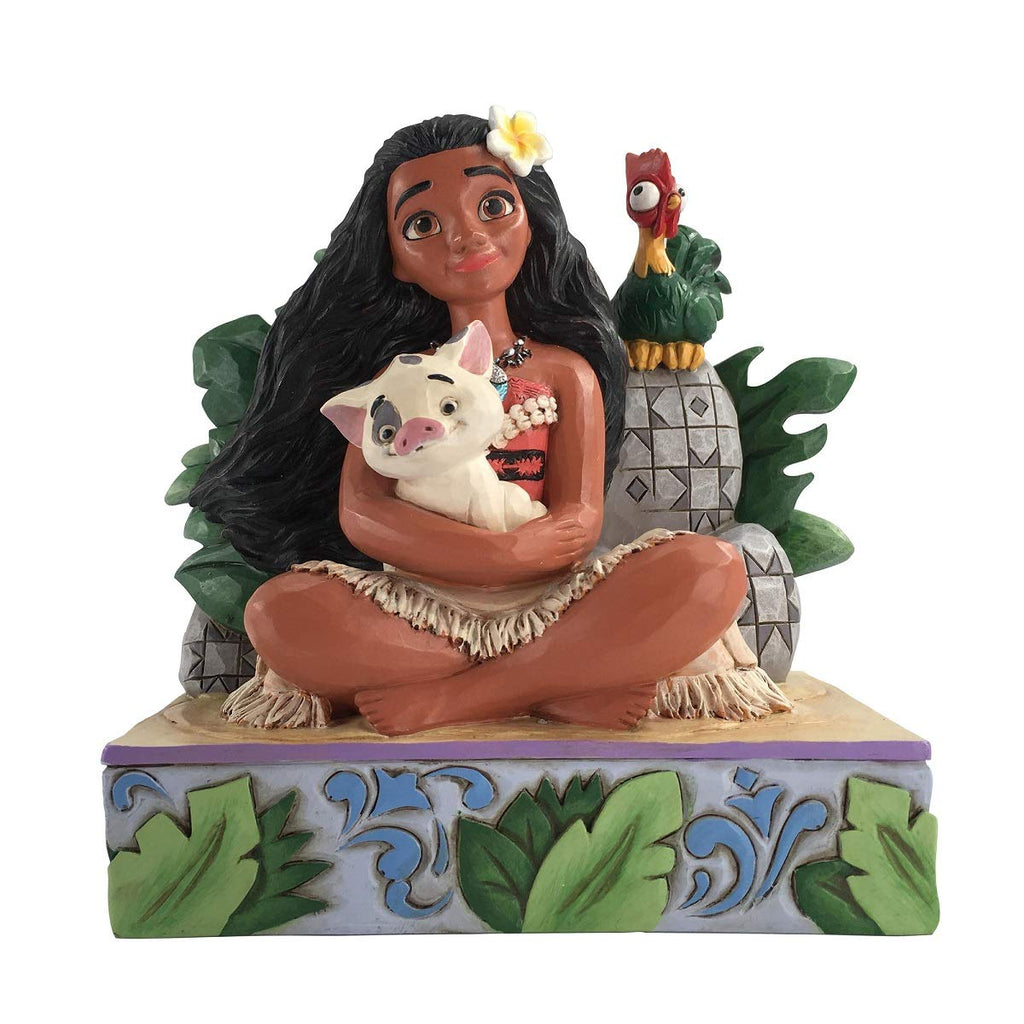 Jim Shore Moana with Pua and Hei Hei Disney Traditions
