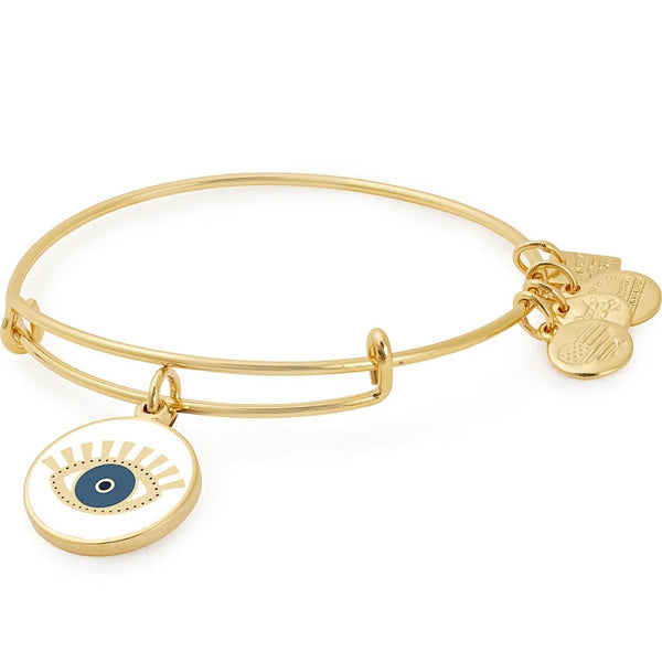 Alex and Ani Meditating Eye Color Infusion Charm Bangle Shiny Gold