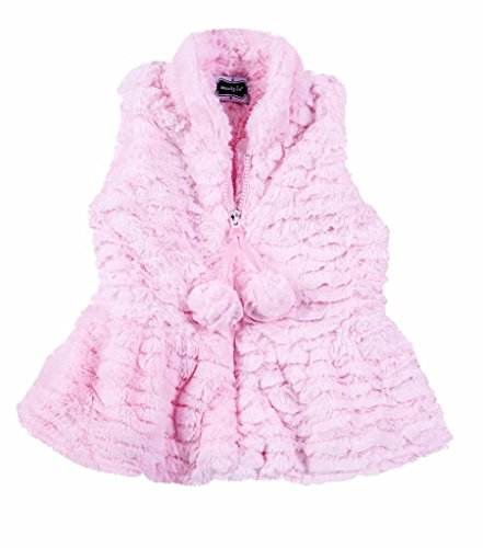 Mud Pie Kids Pink Fur Vest, Choose Size