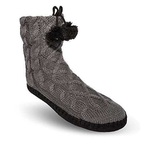 Pudus Classic-Sole Slipper Socks, Adult, Choose Design!