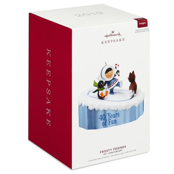 Hallmark Keepsake 2019 Frosty Friends 40th Anniversary Ornament With Motion