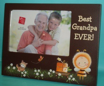 Kiddoodles Best Grandpa Ever Frame 4x6