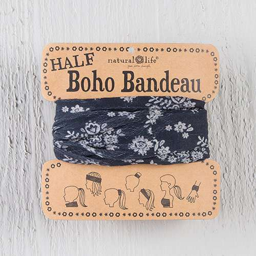 Natural Life Black & Cream Half Boho Bandeau