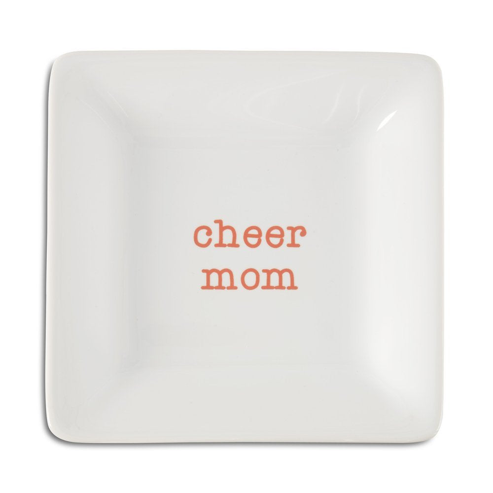 Pavilion Gift Company Cheer Mom Ceramic Keepsake Dish, 4-1/2""